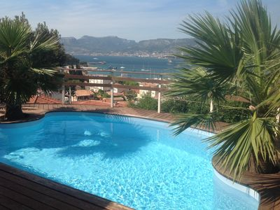 Photo for Villa 8 pers. 4 bd 4 bathr. heated Sea view except Beaches & shops at 500 m