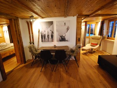 Photo for powder-run.ch - ski in ski out apartment on 1400 Meters altitude (new listing)