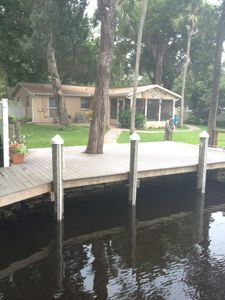 Boater's heaven--dock your boat right at the back door!