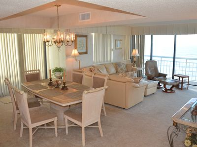 Photo for Corner Unit with ceiling to floor, wrap-around ocean views!