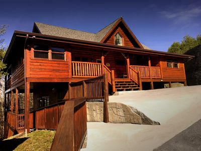 Photo for Bear Haven boasts an enormous 4 bedroom cabin getaway close to every attraction!