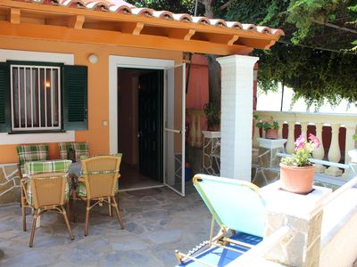 Photo for Cozy holiday apartment directly at the sea, fantastic sea view | Paramonas, Corf