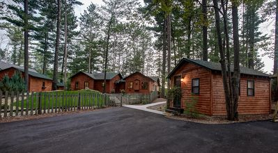 Photo for Newly Remodeled Luxury Lakefront Cabin w/ sandy beach, hot tub, kayak/SUP, dock