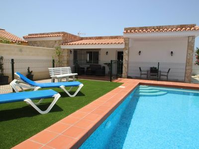 Photo for Nice and new house, near to the beach in Fuente del Gallo, with fenced private pool and covered Barbecue-Terrace, for 4-5 persons, with wifi internet-