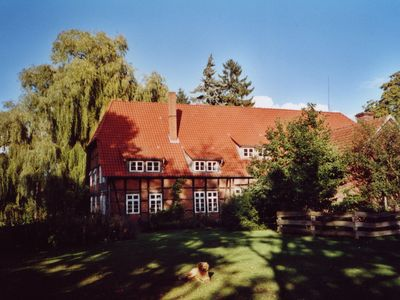 Photo for Historic half-timbered farmhouse in the Lüneburg Heath with wood stove