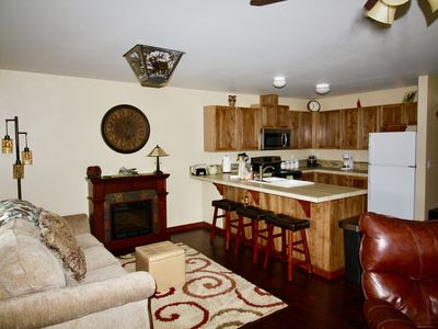 Photo for Alpine Adventure Condo - King Bed! Sleeps 7 - Walk to town1
