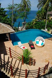 100sq m Pool looking onto the Andaman