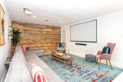 Home theater with 100-inch screen