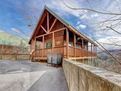 Photo for Welcoming cabin w/ a private hot tub, shared, outdoor pool, & amazing views!