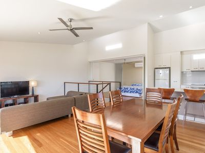 Photo for Unit 5 Rainbow Surf - Modern, double storey townhouse with large shared pool, close to beach and shop