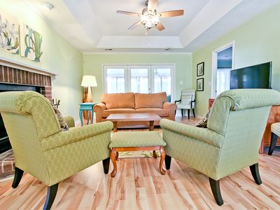 Photo for Mid Island Location, Pet-Friendly, Short Walk to Beach, YMCA and Memorial Park, Perfect for Families