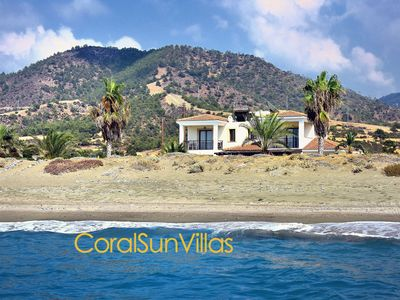 Photo for Direct to the Sandy Beach (30m), Impressive Villa,Exceptional Views, Privacy