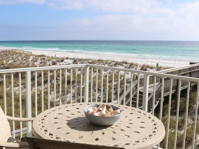 Photo for On the Gulf of Mexico - Direct Views of the White Sand and Emerald Water.  Very Spacious Condo