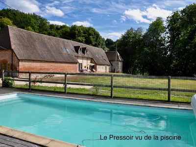 Photo for MAGNIFICENT AREA IN THE HEART OF THE COUNTRY OF AUGE WITH HEATED SWIMMING POOL.