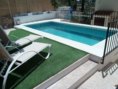 Photo for Modern Studio Apartment close to La Fustera beach. Private Pool, Wi-Fi, UK TV