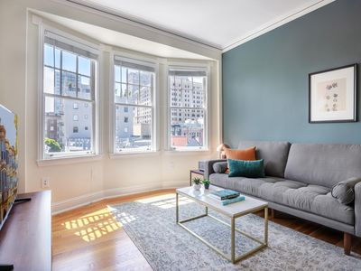 Photo for Crisp Nob Hill 1BR w/ City View near Financial District by Blueground