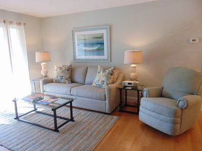 Photo for A6  Ocean Walk Resort.  Really nice one bedroom unit, has a King and a sleeper sofa, on second floor.  Fully equipped kitchen.  Hardwood floors in main living room, new carpet in bedroom.
