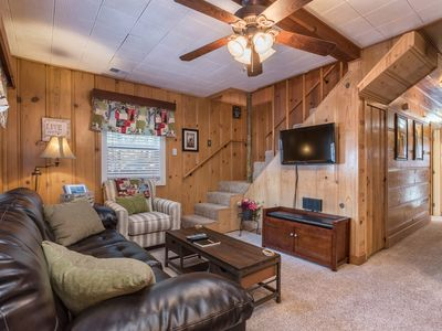 Photo for Classic 4BR Midtown Tahoe Cabin With Private Hot Tub & 2 Living Areas