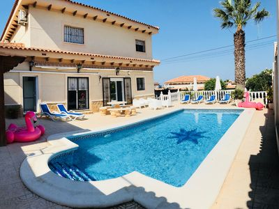 Photo for LARGE FAMILY FRIENDLY VILLA - SLEEPS 12 IN 6 BEDROOMS - WIFI-AIR CON-POOL TABLE