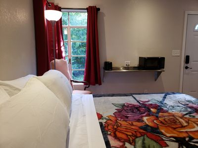 Photo for King bed, Private, Keurig, Pet Friendly, Kitchenette, Secure Parking.