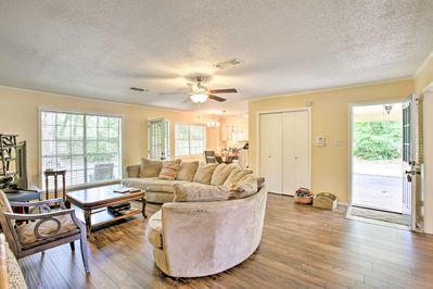 This one-story home boasts 2,100 square feet of comfortable living space.
