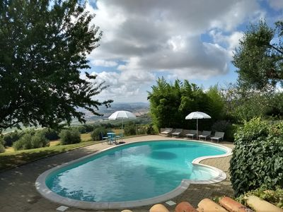 Photo for Apartment in an old farmhouse on dreamlike views CORTE