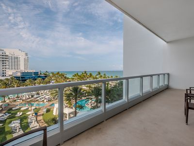 Photo for NEWLY RENOVATED! Fontainebleau Hotel Ocean View Suite. No resort fee. Free valet