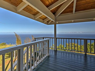 Photo for Cliff House w/ Waipi'o Valley Views - on 43 Acres!
