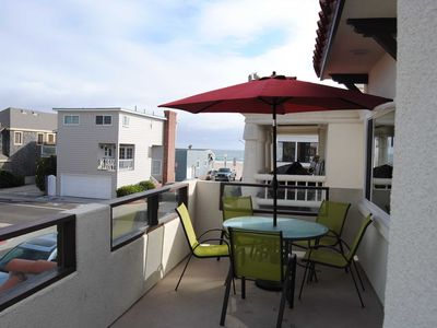 Photo for Lovely newly-remodeled upper unit with amazing balcony for grilling & chilling