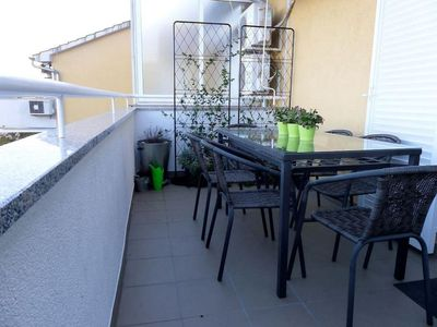 Photo for Three bedroom apartment with terrace and sea view Lovran (Opatija)