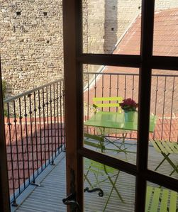 Photo for Charming apartment with terrace in the historic center of Cluny