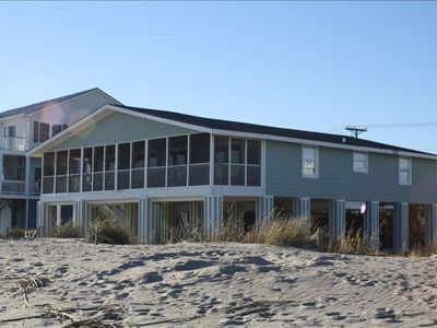 Photo for Beautiful Ocean Front Home 4BR!  Large Covered Porch! Relax!