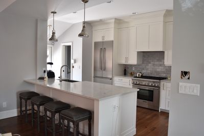 Fully remodeled kitchen with Thermadore appliances.