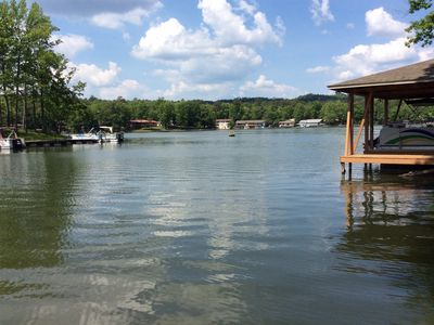 Photo for Lake Desoto Townhome With Boat Dock And Beautiful Views