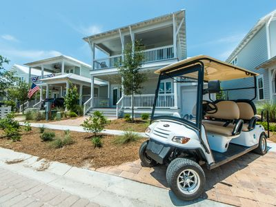 Photo for 6 Person Golf Cart ~ 4 Bikes ~ Brand New Home (BEAUTIFUL)~ Southern Tide at NatureWalk 30A
