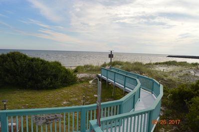 Walk way to beach.