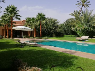 Photo for Cosy villa in  Palmeraie with beautiful garden and pool
