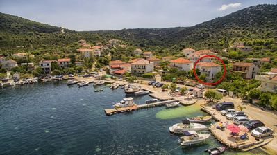 Photo for One bedroom apartment with balcony and sea view Vinišće, Trogir (A-17590-b)