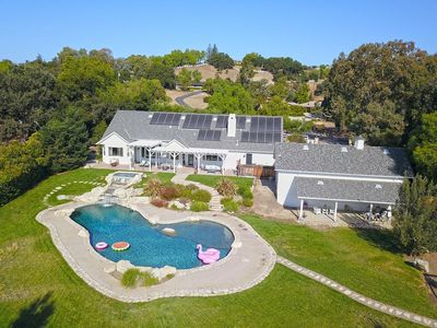 Photo for Dreamy White Farmhouse in Charming Solvang with a resortlike pool & huge jacuzzi