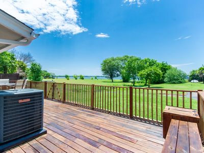 """Photo for The """"Deck House"""" on Lake Ray Hubbard"""