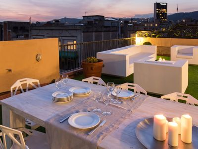 Photo for Penthouse with huge terrace at Rambla Catalunya