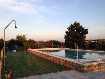 Photo for Small stone farmhouse in the Tuscan countryside, with a seasonal swimming pool