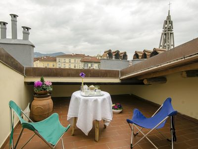 Photo for Cozy apartment with roof terrace