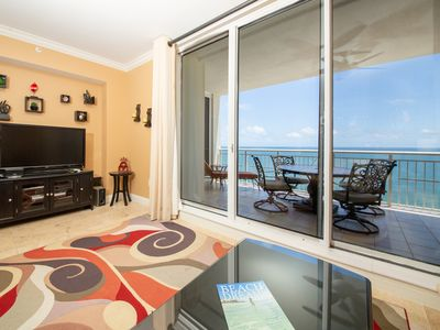 Photo for Beautiful 3BR GULF-FRONT Beach Condo! West 1702