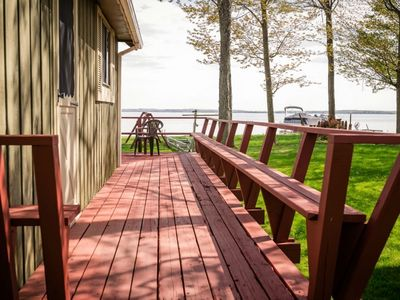 Photo for HOUGHTON LAKE HIDEAWAY: Great location! Private boat dock, Pets welcome!