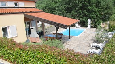 Photo for Quiet modern house with pool, near Labin Rabac, in the mountains, close to the beach