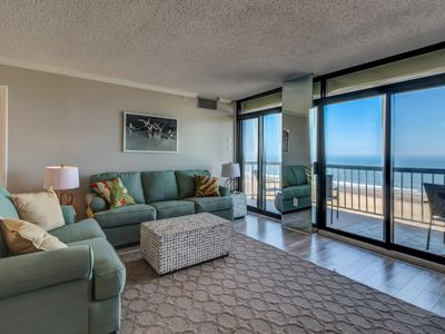 Photo for Oceanfront getaway w/  shared pool & tennis courts (fee applies), beach access