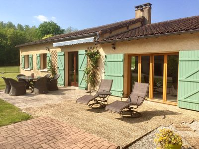 Photo for Fantastic holiday home with 50 acre garden, heated pool, tennis & boules courts