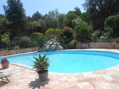 Photo for Villa a few minutes walk from one of the beaches of the private estate of Cala Rossa.