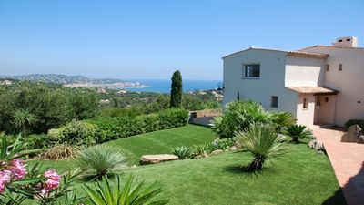 Photo for Very nice farmhouse in private domain / sea view St-Tropez / tennis / swimming pool / private beach